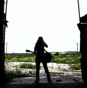 Acoustic guitar rock girl